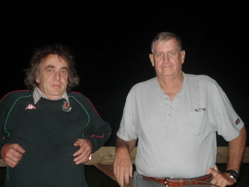 Dennis Price with Captain Robert Fore
