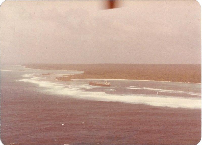 The ''Primrose'' stranded off North Sentinel Island