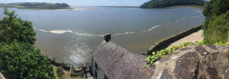 the view from above Dylan Thomas Boathouse.JPG