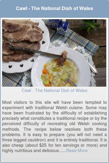 Cawl - The National Dish of Wales