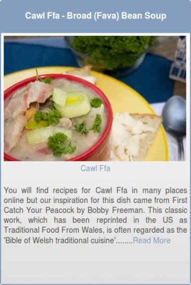 Cawl Ffa- Broad (Fava) Bean Soup