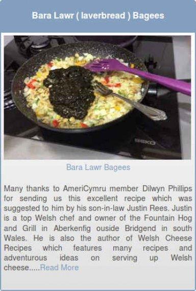 Bara Lawr (laverbread) Bagees