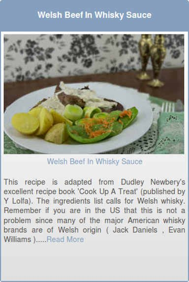 Welsh Beef In Whisky Sauce
