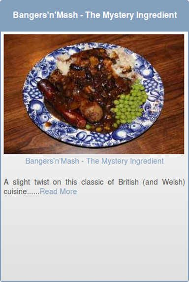 Bangers'n'Mash - The Mystery Ingredient
