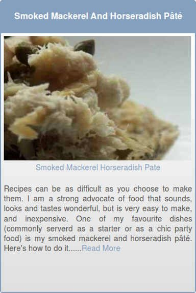 Smoked Mackerel And Horseradish Pate
