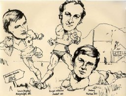 sketch of rugby players