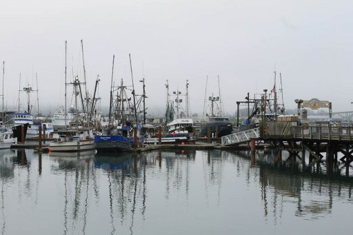 Newport, Oregon fishing boats