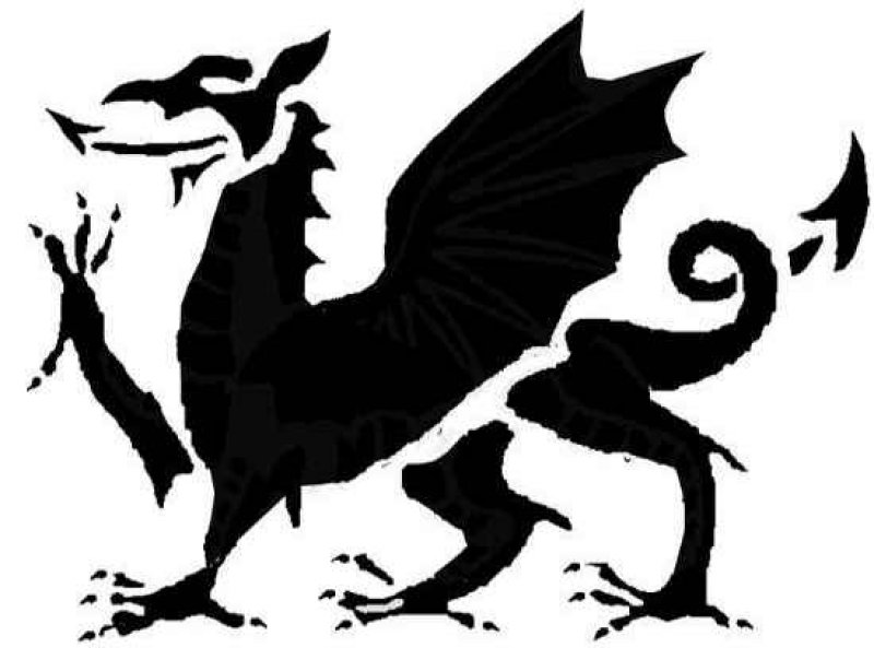 Welsh Dragon halloween pumpkin stencil