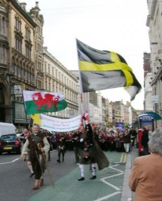 St David's Day parade Cardiff