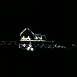 Christmas Lights on house at Cilonnen Gower Wales