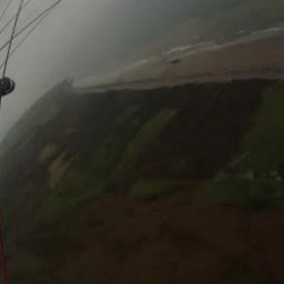 Paragliding on the Beautiful Welsh Coastline on a Cloudy Febuary Day