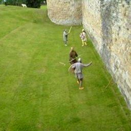 Viking re-enactment Flint Castle, Flintshire, North Wales