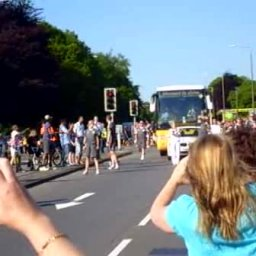 Olympic Torch Relay, Newport Road, Rumney, Cardiff