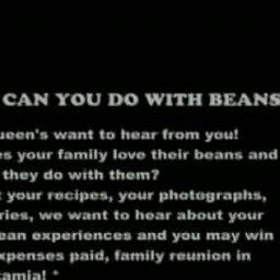 Ceri's Queens Beans Ad